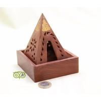 thumb-Sheesham Houten Wierook Piramide-5