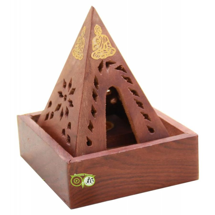 Sheesham Houten Wierook Piramide-1