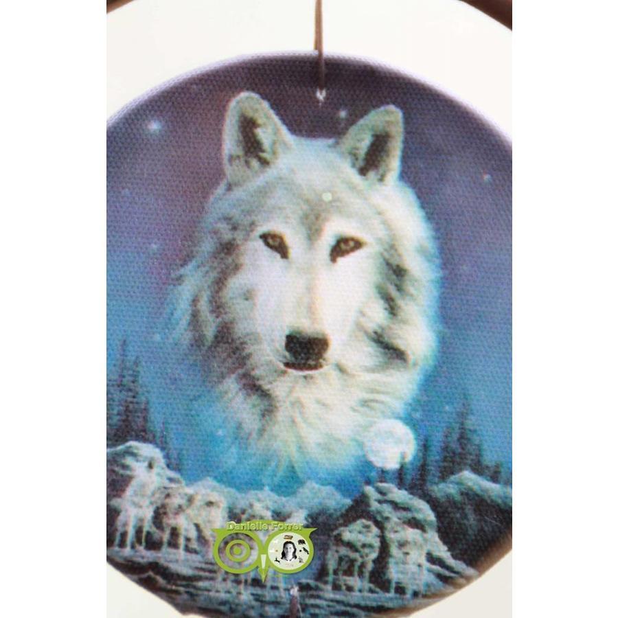 Dromenvanger 'Wolf Spirit waakt over roedel' Lisa Parker 16 cm-2