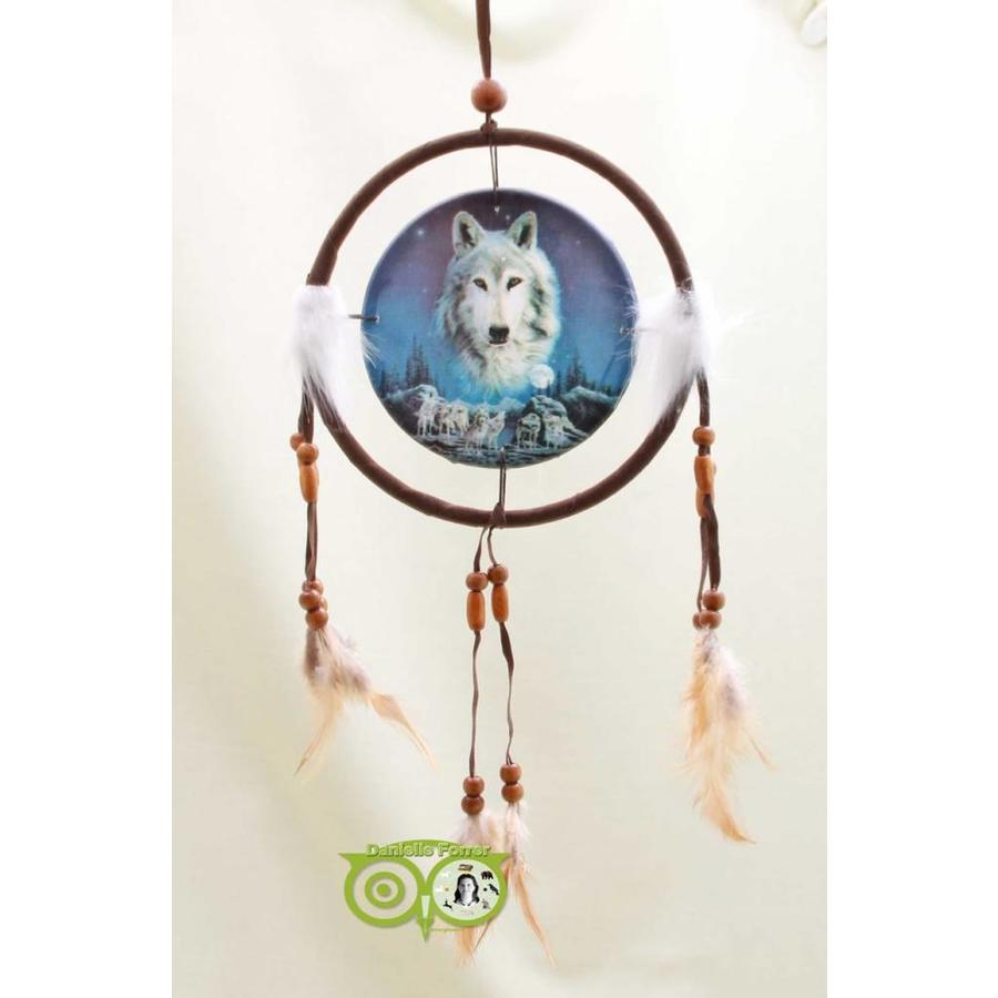 Dromenvanger 'Wolf Spirit waakt over roedel' Lisa Parker 16 cm-1