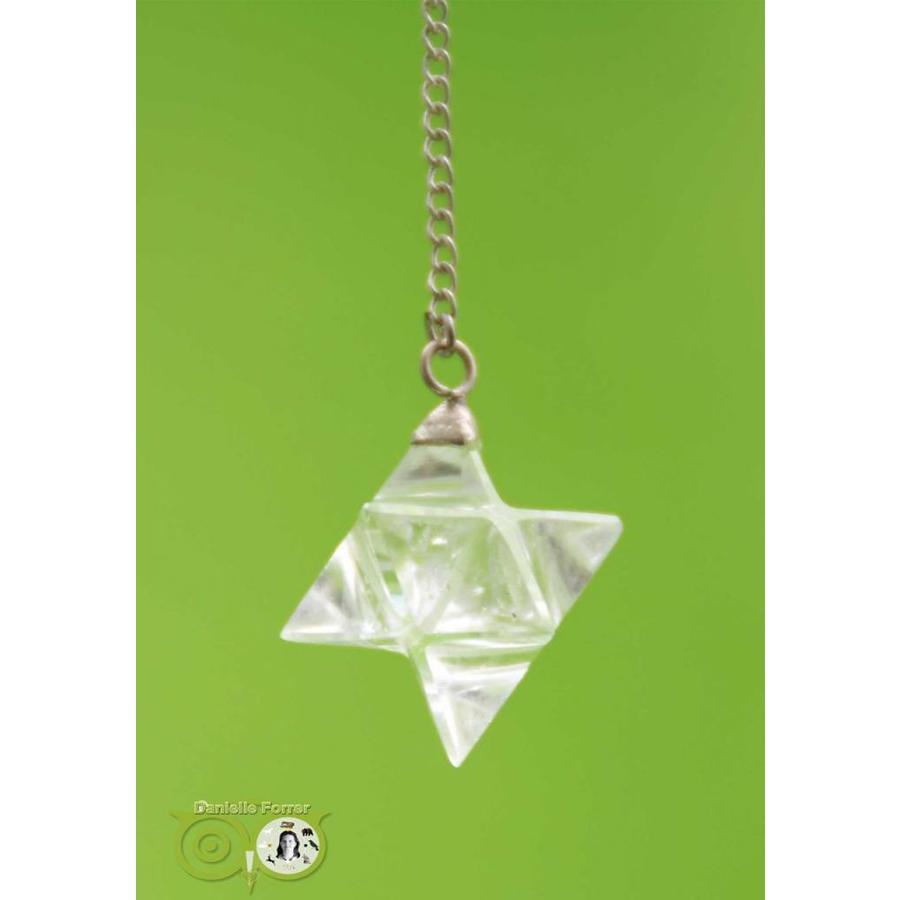 Pendel Merkaba Bergkristal (12 gram)-1