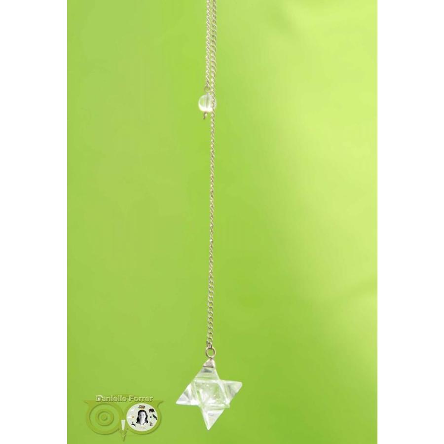 Pendel Merkaba Bergkristal (12 gram)-2