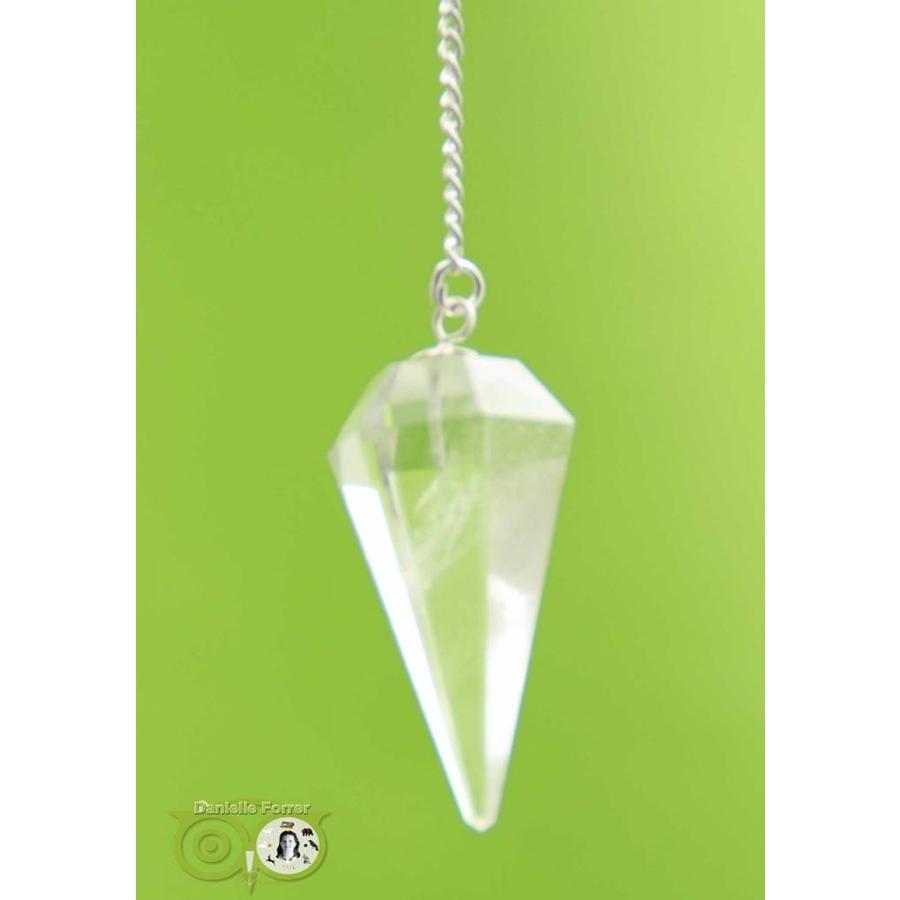 Pendel bergkristal punt facet (11 gram)-1