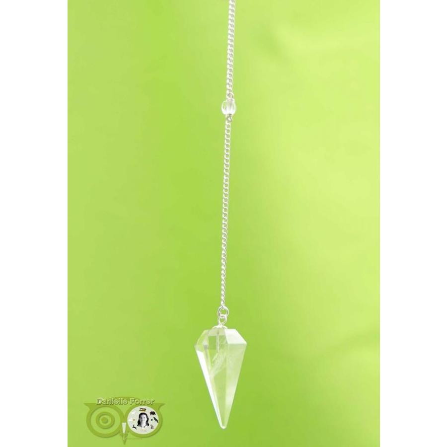 Pendel bergkristal punt facet (11 gram)-2