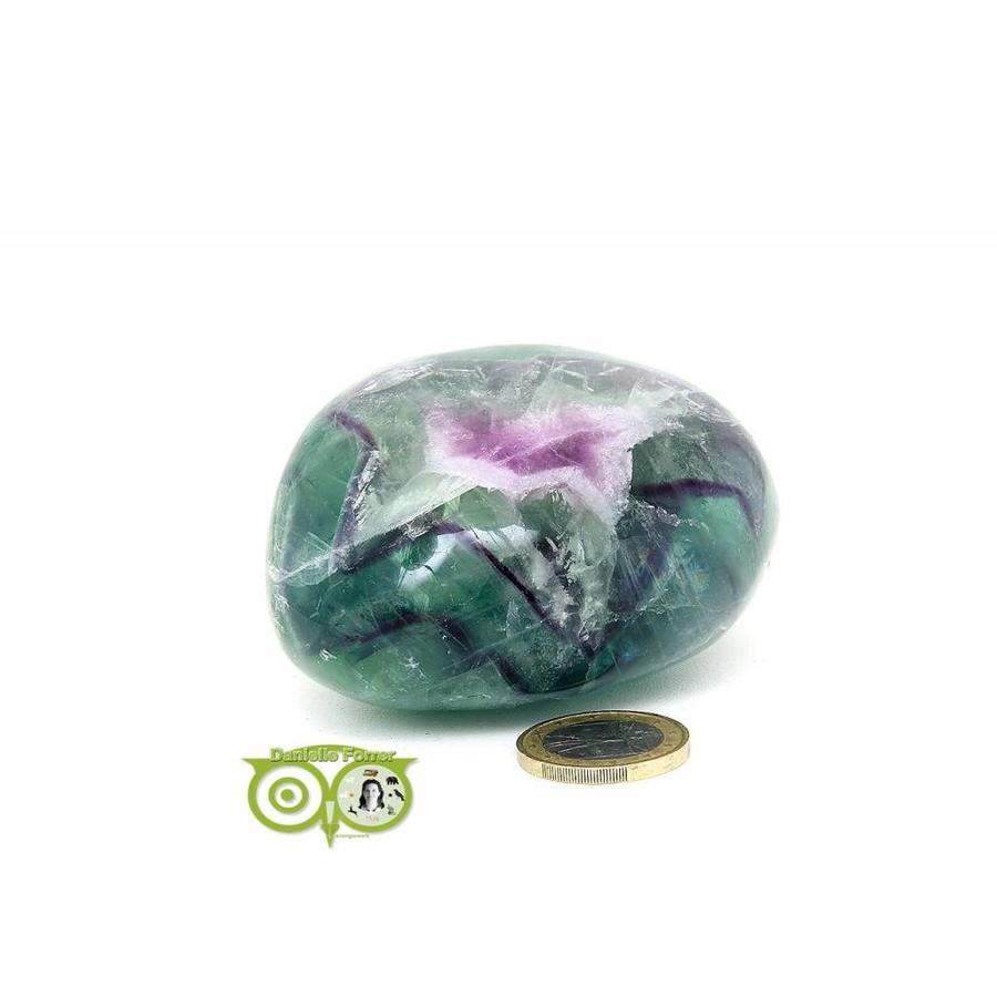 Regenboog Fluoriet Jumbo steen Nr 4 - 356 gram-1