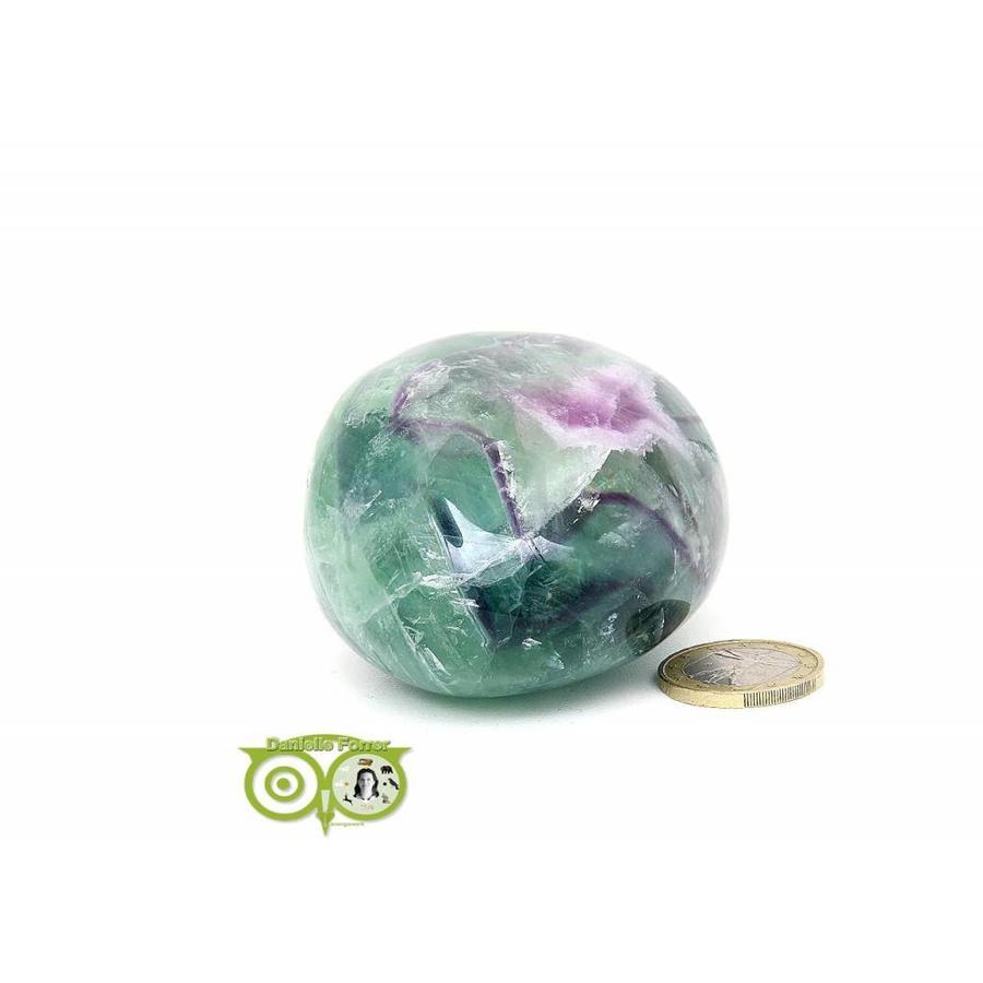 Regenboog Fluoriet Jumbo steen Nr 4 - 356 gram-3