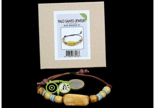 BLUE BRACELET NR. 001 -  Palo Santo Jewelry