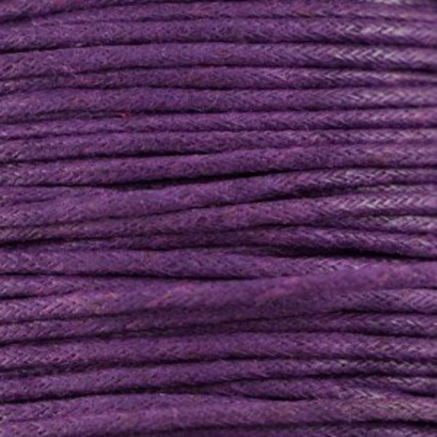 Waxkoord 1.5 mm Paars / Purple 1,2 mtr-2