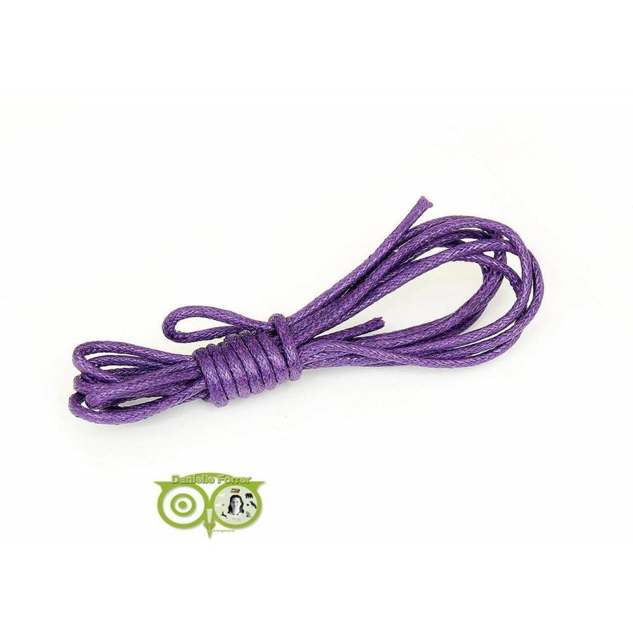 Waxkoord 1.5 mm Paars / Purple 1,2 mtr-1