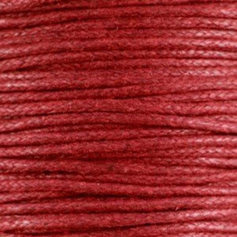 Waxkoord 1.5 mm Rood / Ruby Red 1,2 mtr-2