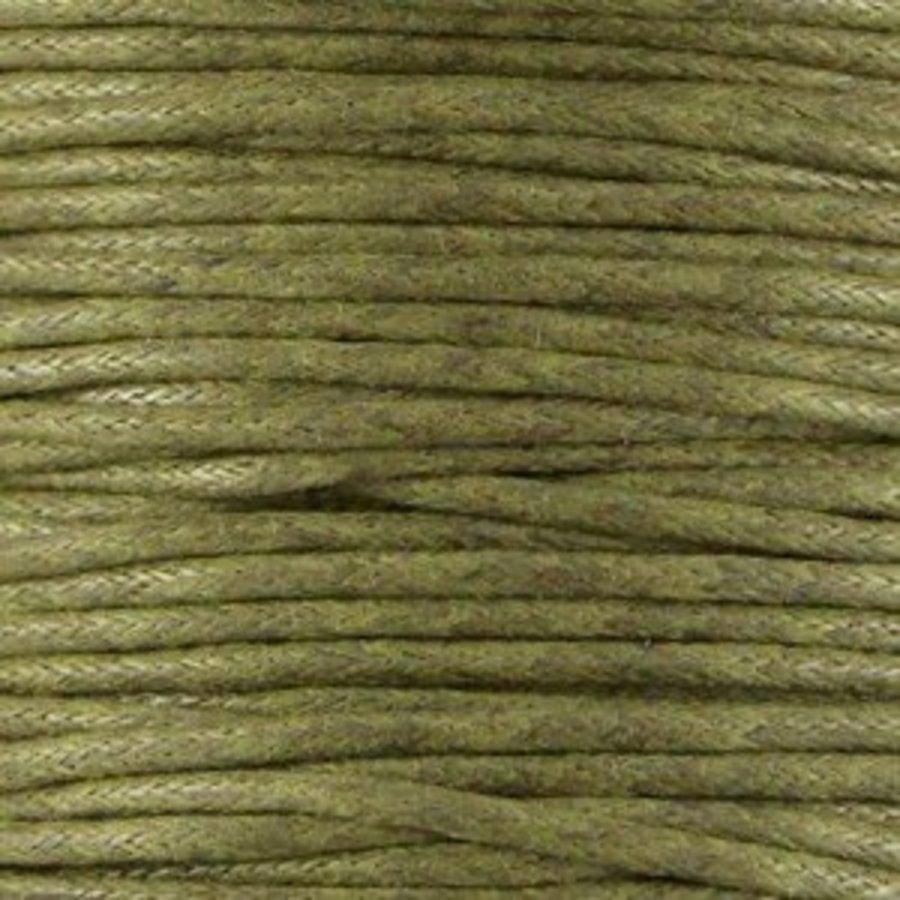 Waxkoord 1.5 mm Groen / Army Green 1,2 mtr.-2