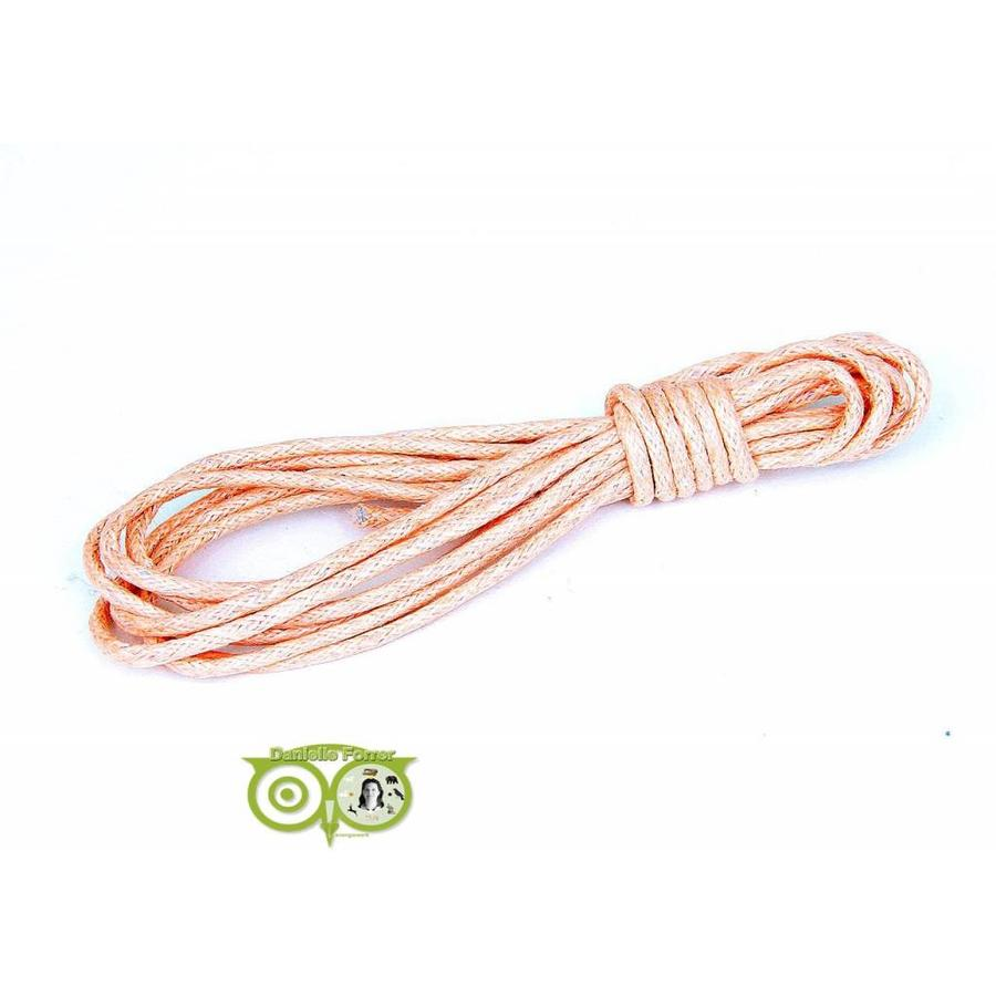 Waxkoord 1.5 mm Perzik / Soft Peach 1,2 mtr.-1
