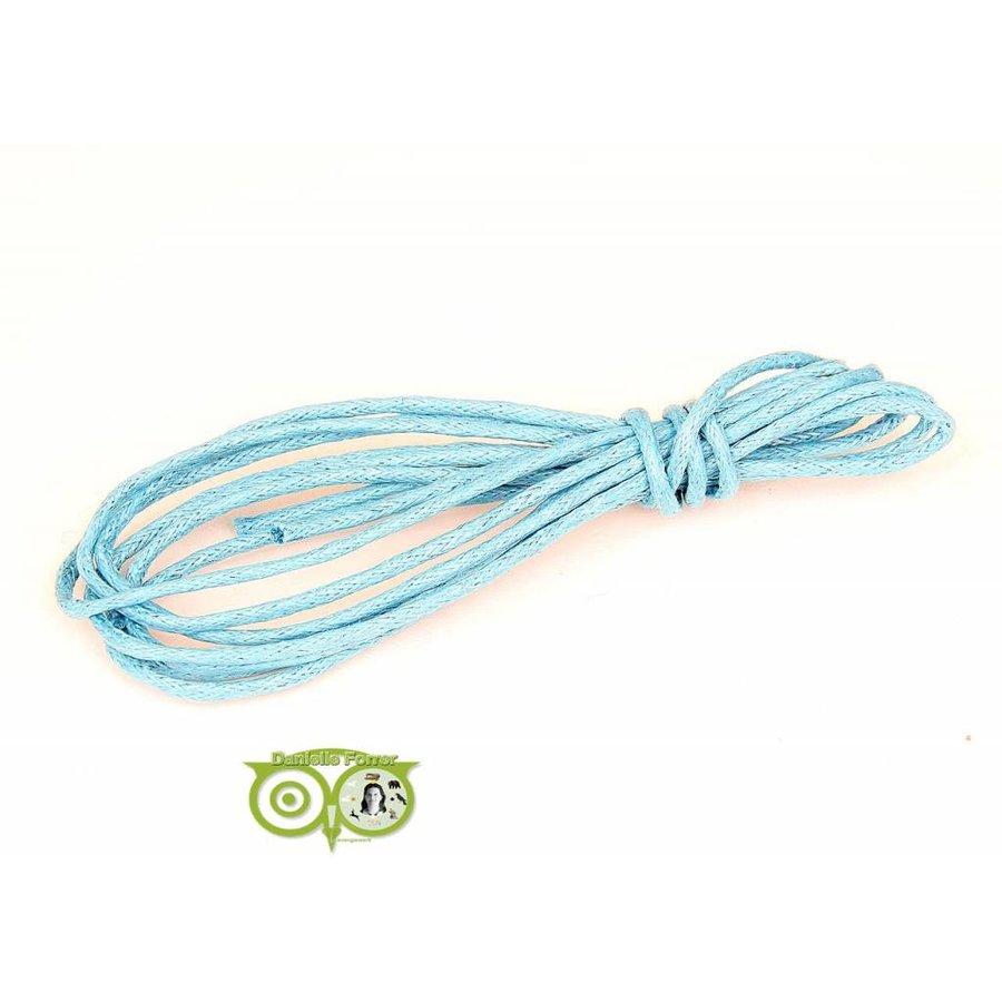 Waxkoord 1.5 mm Donker Aquamarine Blauw 1,2 mtr.-1