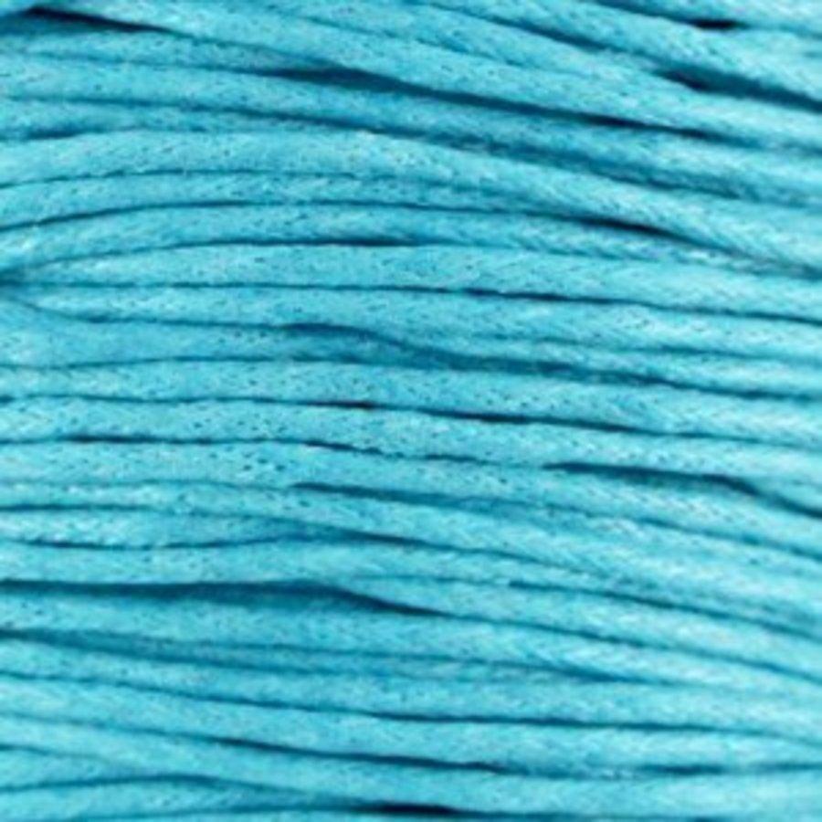 Waxkoord 1.5 mm Donker Aquamarine Blauw 1,2 mtr.-2