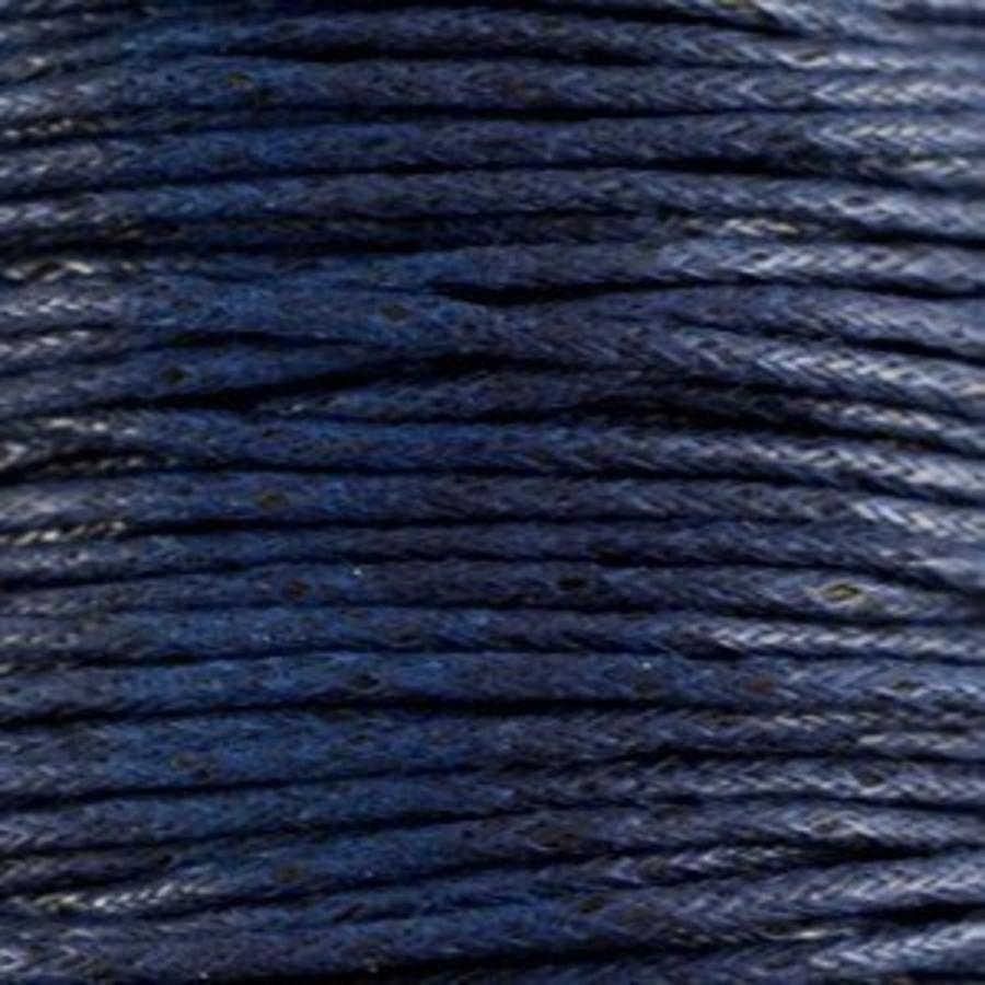 Waxkoord 1.5 mm Midnight Blue 1,2 mtr.-2