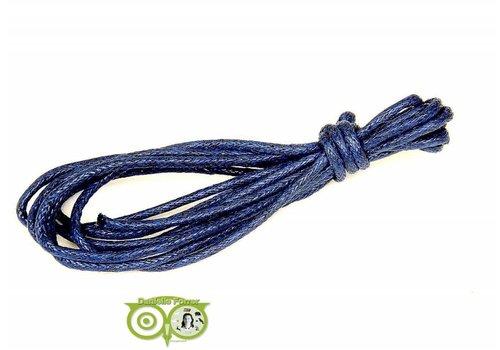 Waxkoord 1.5 mm Midnight Blue 1,2 mtr.