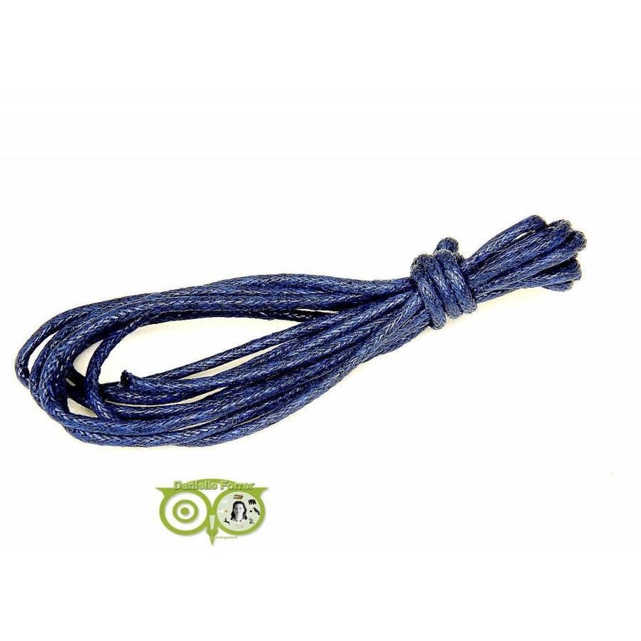 Waxkoord 1.5 mm Midnight Blue 1,2 mtr.-1