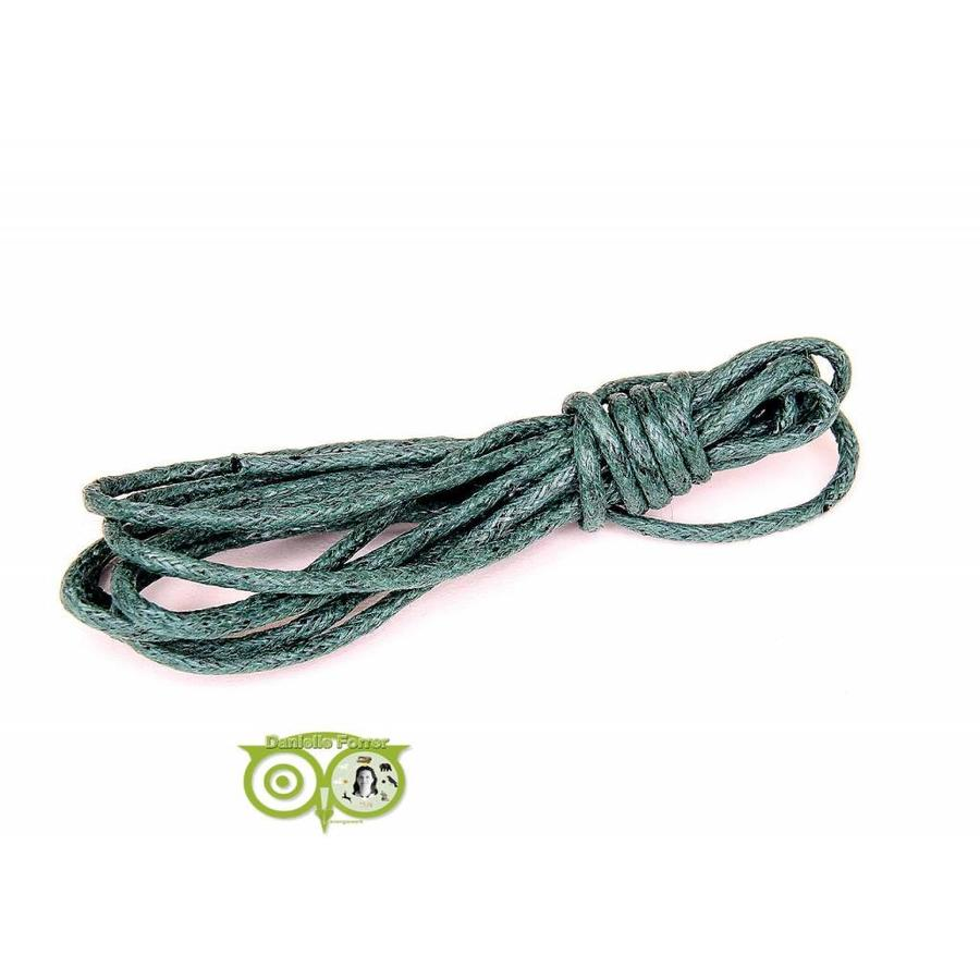 Waxkoord 1.5 mm Dark Emerald Green 1,2 mtr.-1