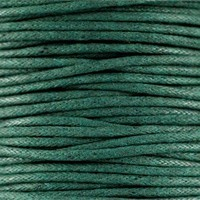 thumb-Waxkoord 1.5 mm Dark Emerald Green 1,2 mtr.-2