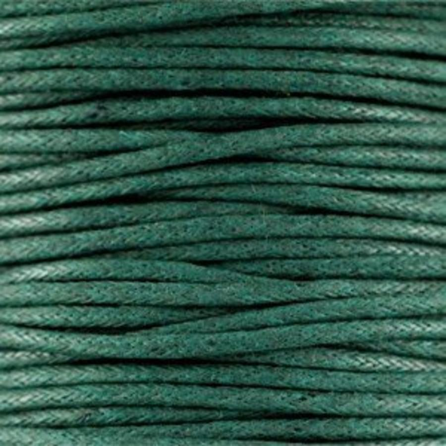Waxkoord 1.5 mm Dark Emerald Green 1,2 mtr.-2