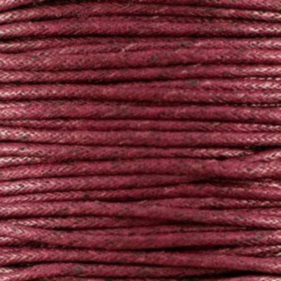 Waxkoord 1.5 mm Bordeaux-Bruin 1,2 mtr.-2