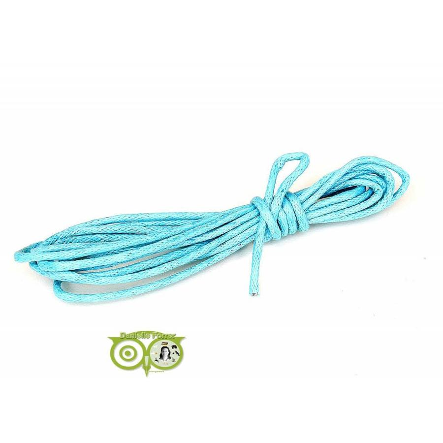 Waxkoord 1.5 mm Light-Aquamarine-Blue 1,2 mtr.-1