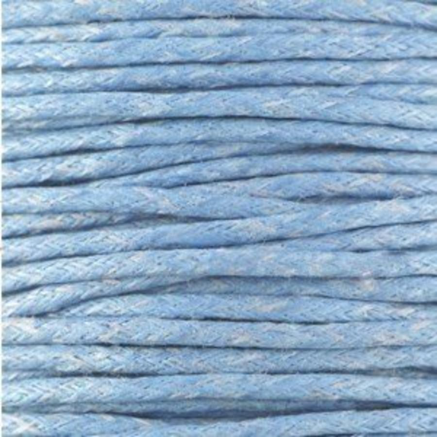 Waxkoord 1.5 mm Light-Sapphire-Blue 1,2 mtr.-2