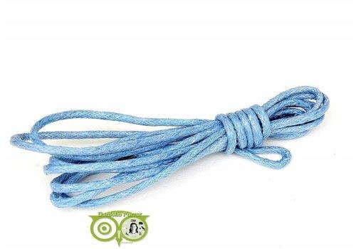 Waxkoord 1.5 mm Light-Sapphire-Blue 1,2 mtr.