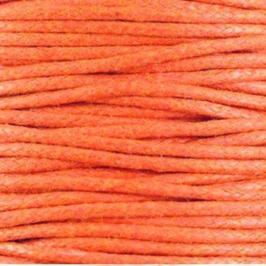 Waxkoord 1.5 mm Warm-Orange 1,2 mtr.-2