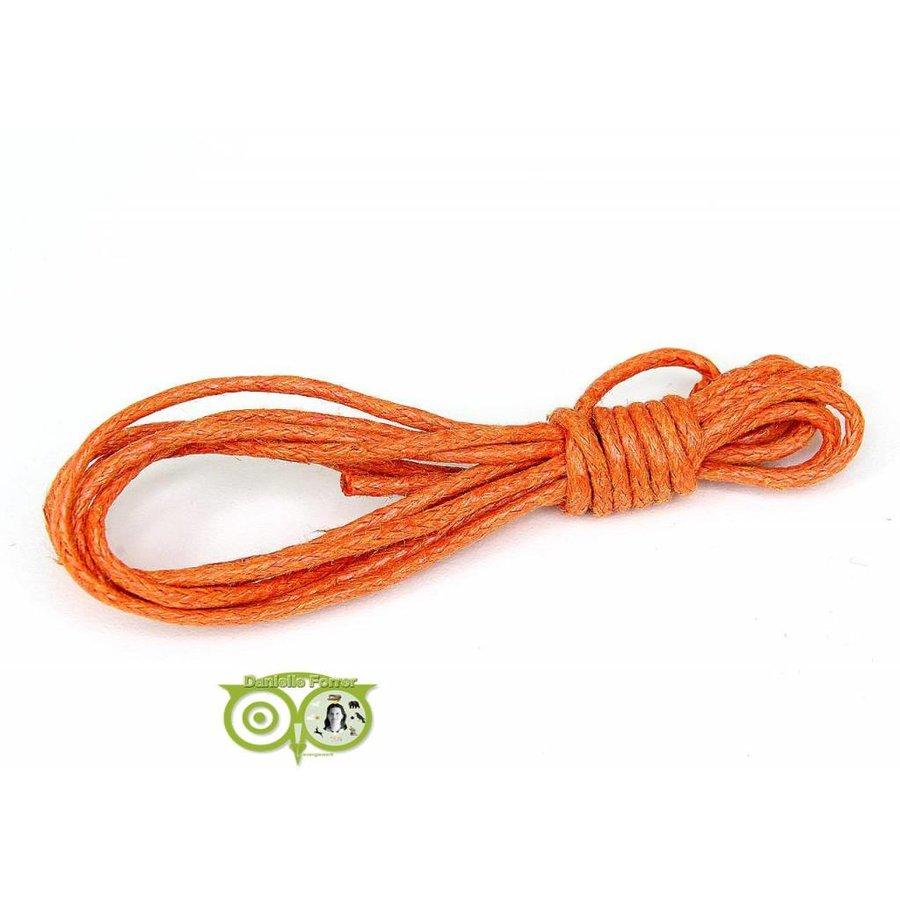 Waxkoord 1.5 mm Warm-Orange 1,2 mtr.-1