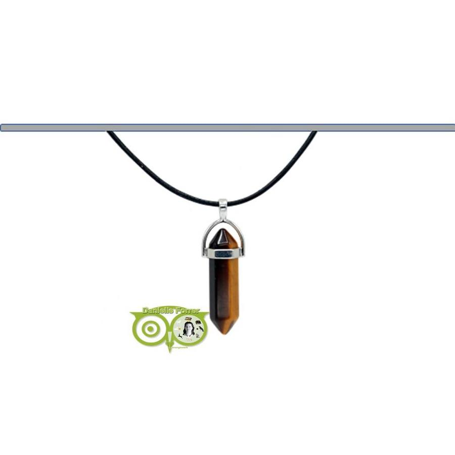 Tijgeroog Facet hanger  – 4 cm-3