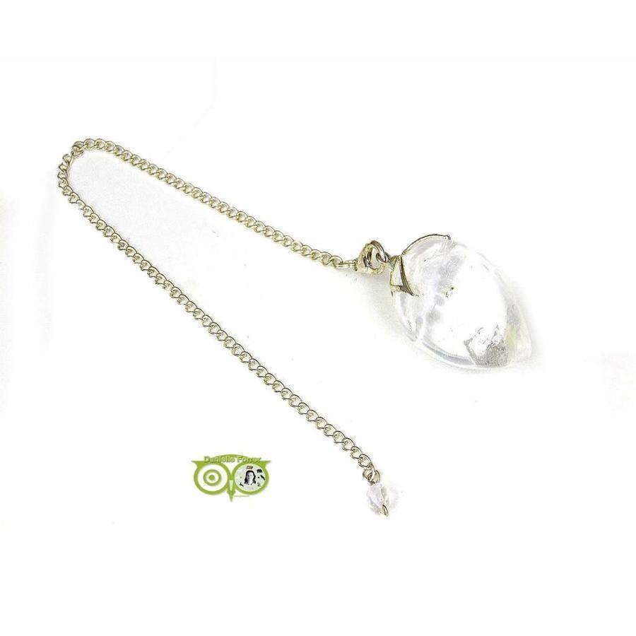 Lotus pendel met Bergkristal punt-2