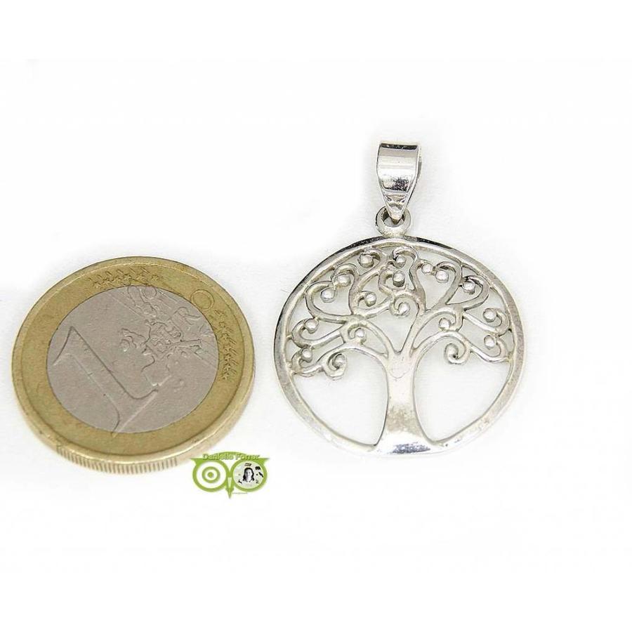 Tree of life hanger 925 zilver 2,5 cm-1