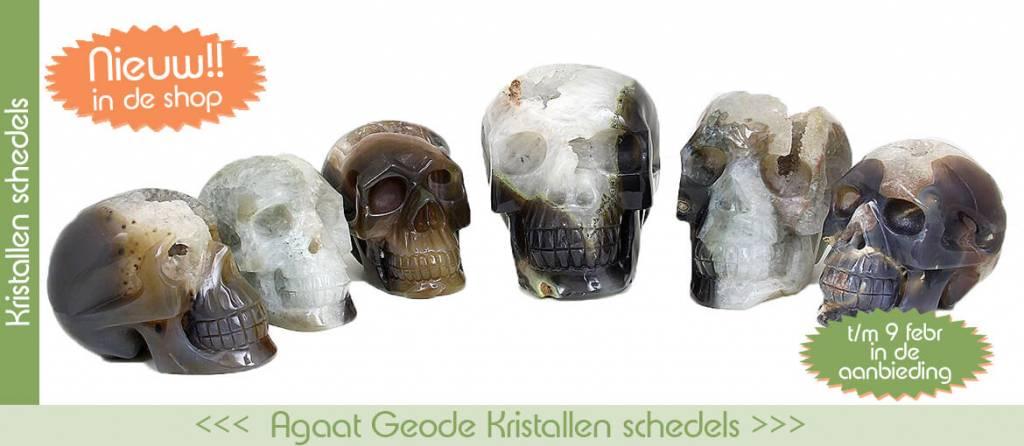 Nieuw in de shop | Agaat Geode Kristallen schedels