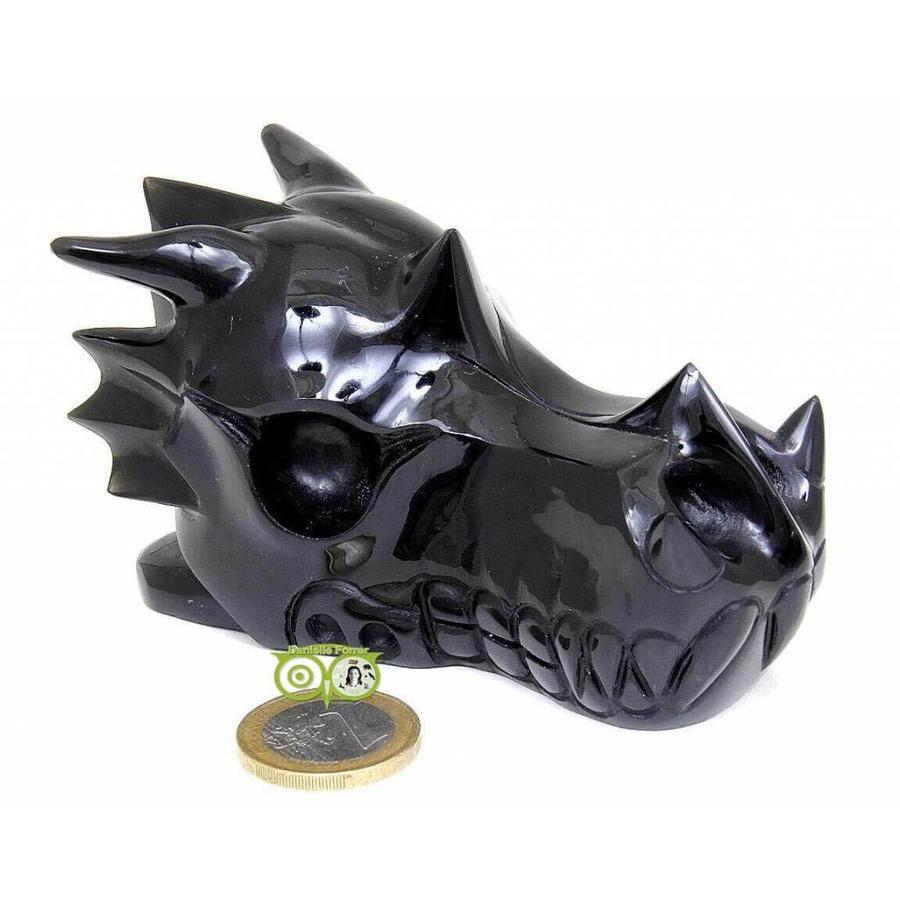 Obsidiaan draken schedel 297 gram-1
