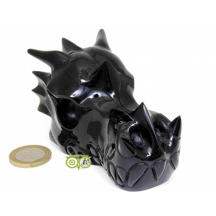 Obsidiaan draken schedel 297 gram-2