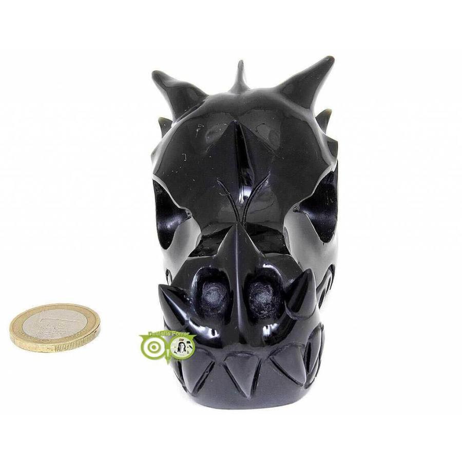 Obsidiaan draken schedel 297 gram-3