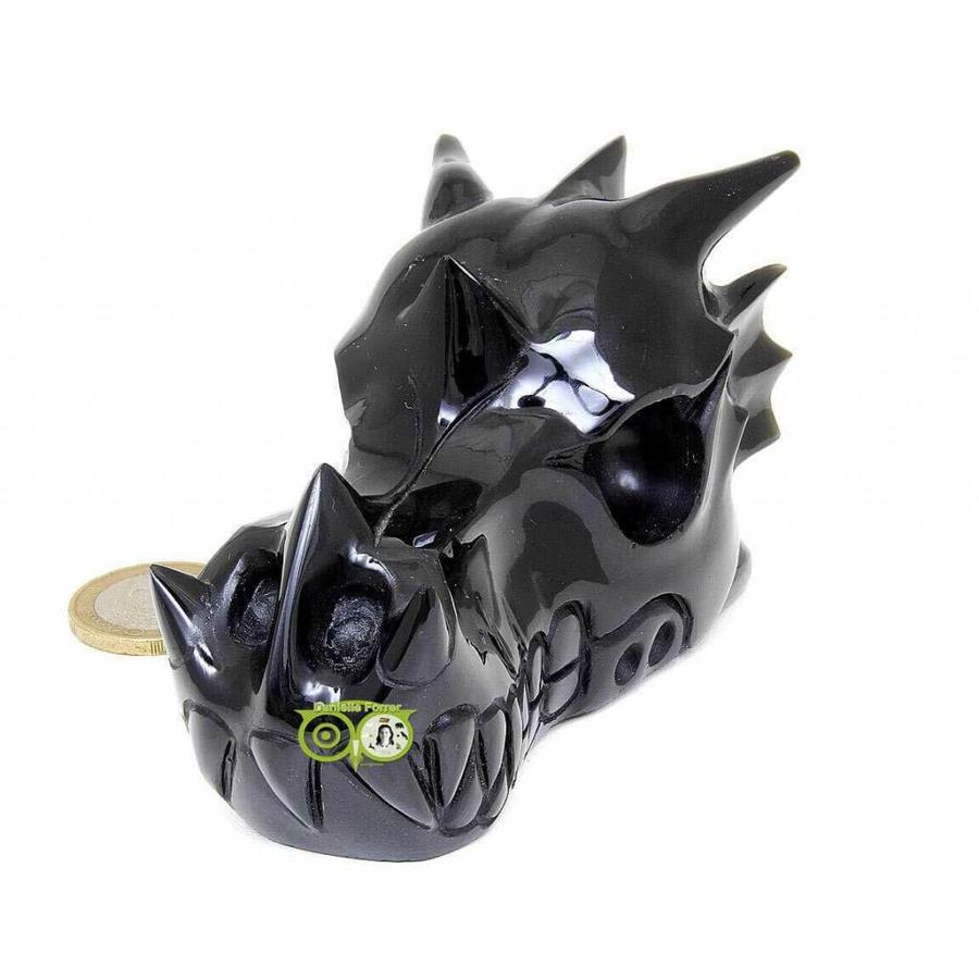 Obsidiaan draken schedel 297 gram-4