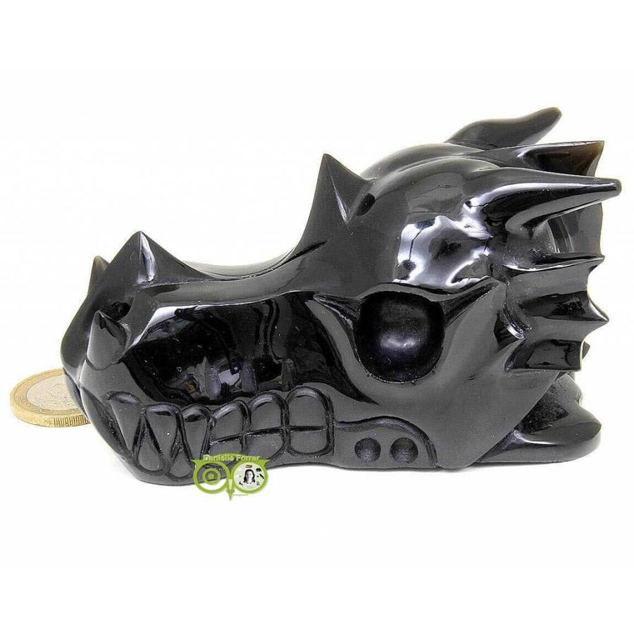 Obsidiaan draken schedel 297 gram-6