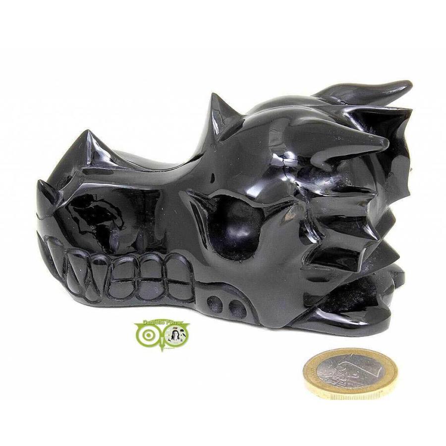 Obsidiaan draken schedel 297 gram-7