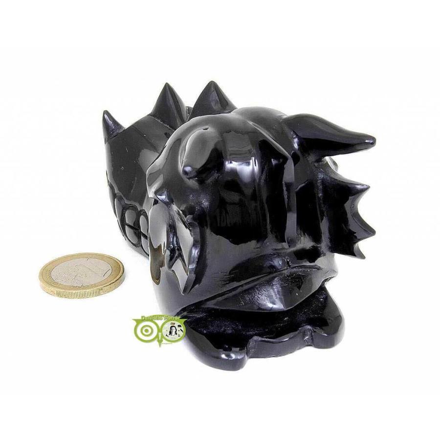 Obsidiaan draken schedel 297 gram-8