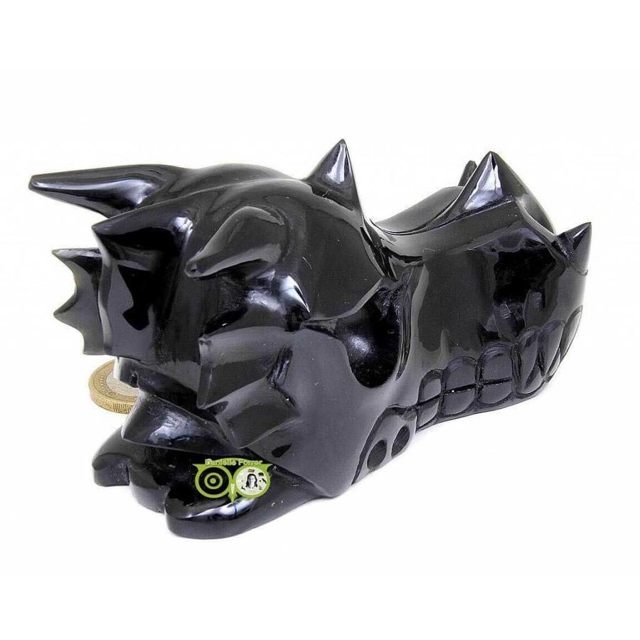 Obsidiaan draken schedel 297 gram-9