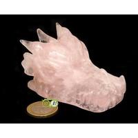thumb-Rozenkwarts draken schedel 186 gram-3