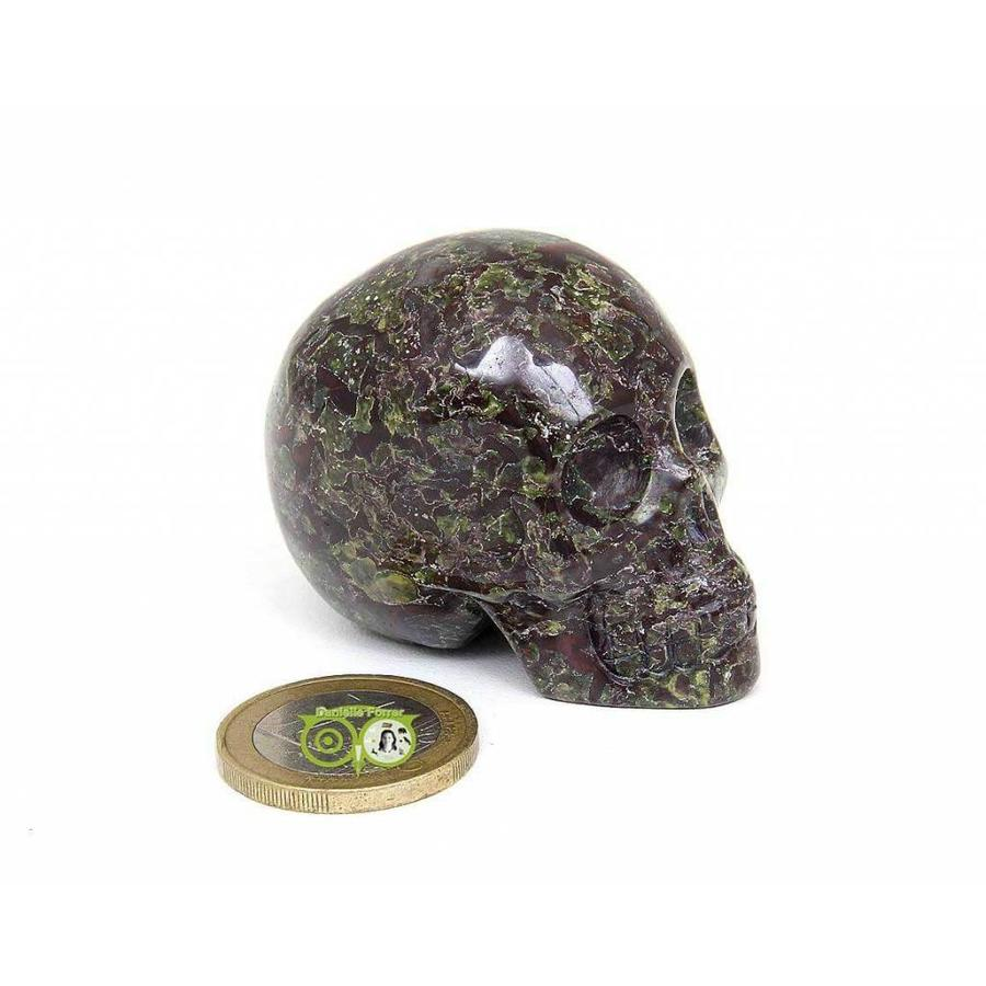 Drakenbloed Jaspis schedel 91 gram-3