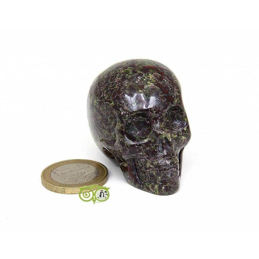 Drakenbloed Jaspis schedel 91 gram-4