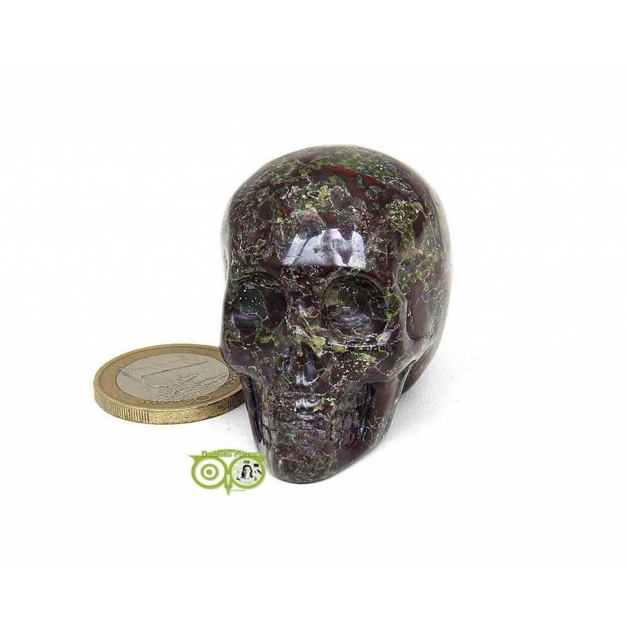 Drakenbloed Jaspis schedel 91 gram-5