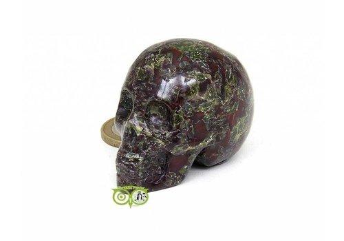 Drakenbloed Jaspis schedel 91 gram