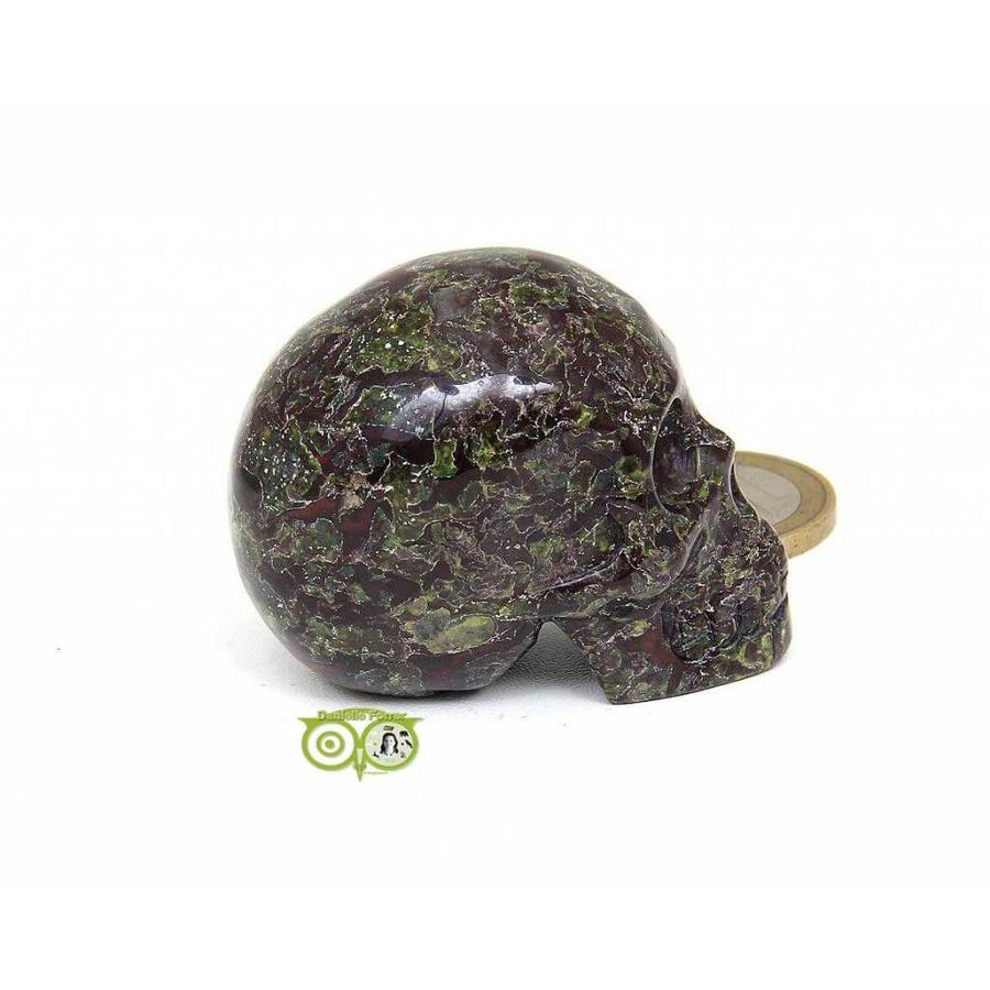 Drakenbloed Jaspis schedel 91 gram-8
