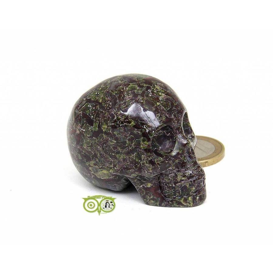 Drakenbloed Jaspis schedel 91 gram-9