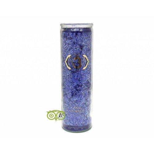 Geurkaars stearine - 6e chakra - Ajña - 100 uur